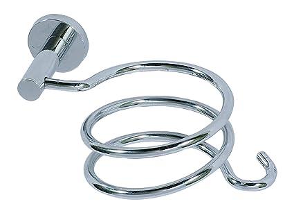 Wenko 17809100 Power-Loc - Soporte para secador de pelo con sujeción para el cable