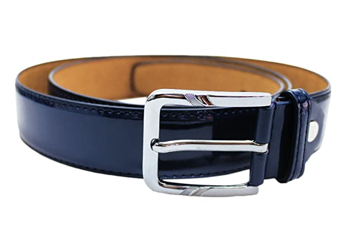 selezione migliore 6aeb8 d14ec Cintura elegante uomo blu lucido vernice cinta nuova belt cerimonia