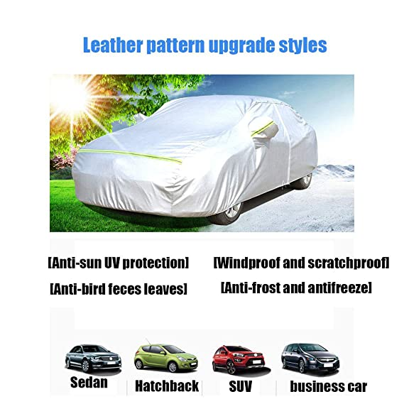 TELO COPRIAUTO PVC FELPATO S M L XL PVC NEVE GRANDINE PIOGGIA SOLE COPRI AUTO m 430x160x120