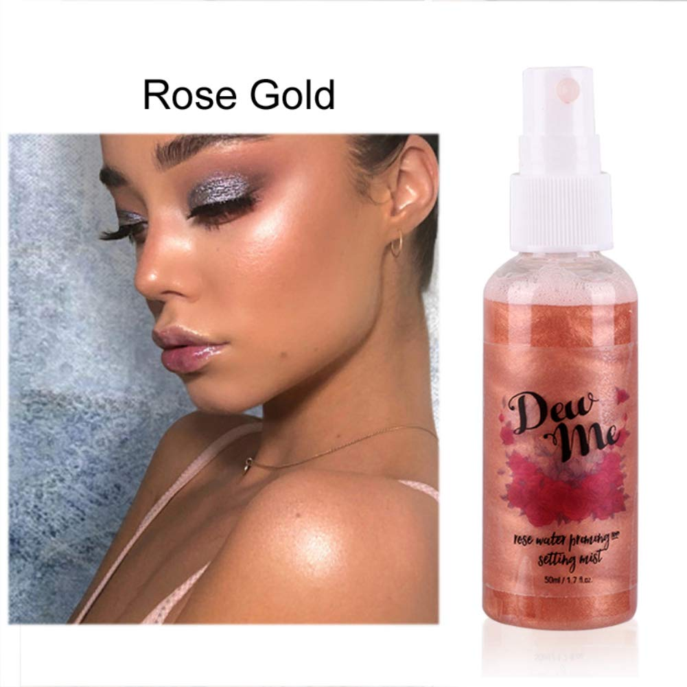 Amazon Com Makeup Setting Spray With Rose Water Rosewater Balancing Mist Pore Minimizer Hydrating Highlighter Effect Facial Mist Rose Moisturizing Spray Priming Setting Mist Highlighter Makeup A3 Beauty