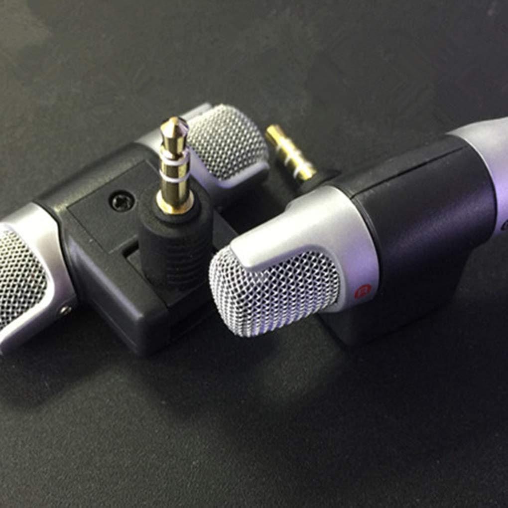 Mini PC//T/él/éphone Microphone 3,5 mm st/ér/éo Portable num/érique Double Canal Mic Enregistreur Vocal sonore Regard