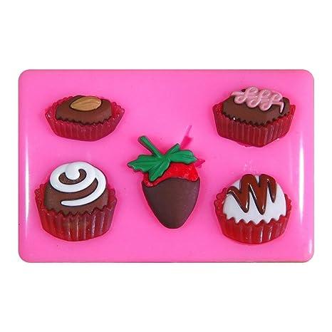 Chocolates Chocaholic Dulces Bombones Caramelos Molde de silicona para la torta de Decoración Pastel de Cupcake
