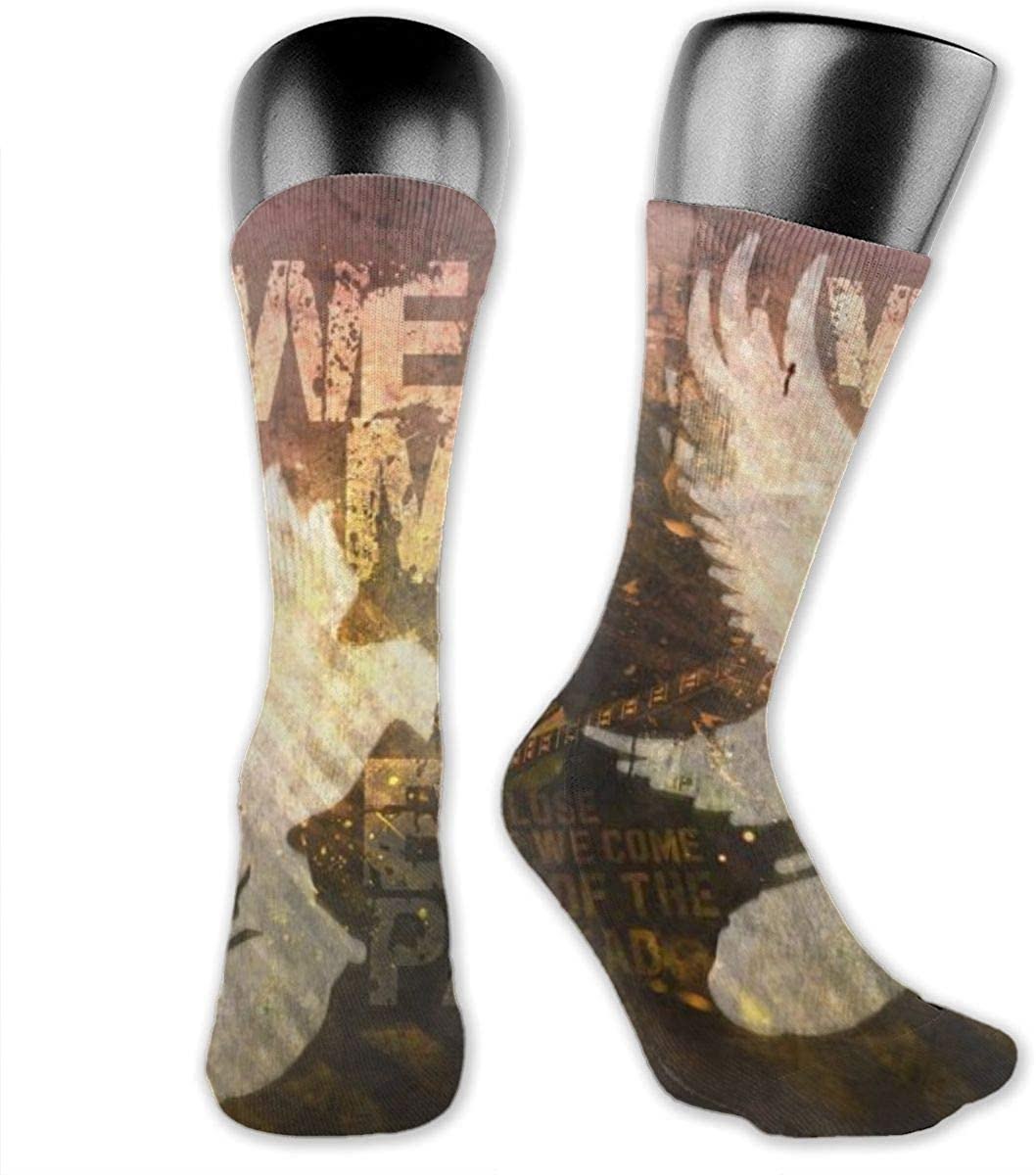 Unisex Casual Sock Hollywood Undead Dove And Grenade Novelty Crew Socks Knee High Compression Stockings Athletic Socks Personalized Gift Socks Men Women Teens Girls