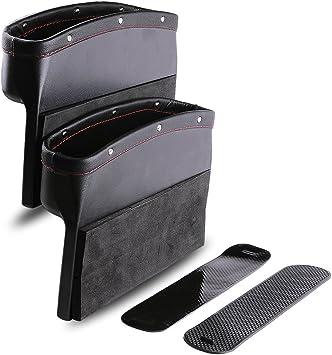 I-MART Console Side Pocket Set of 2 Car Seat Gap Filler Black Car Organizer