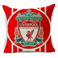 E-sunshine® Thick Cotton Blend Linen Square Throw Pillow Cover Decorative Cushion Case Pillow Case 18 X 18 Inches / 45 X 45 cm, New Football Club Badge