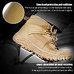 FREE SOLDIER pour Homme Mid Haute durabilité Lacets Bottes Durable Imperméable Armée Combat Chaussures Respirant… 12
