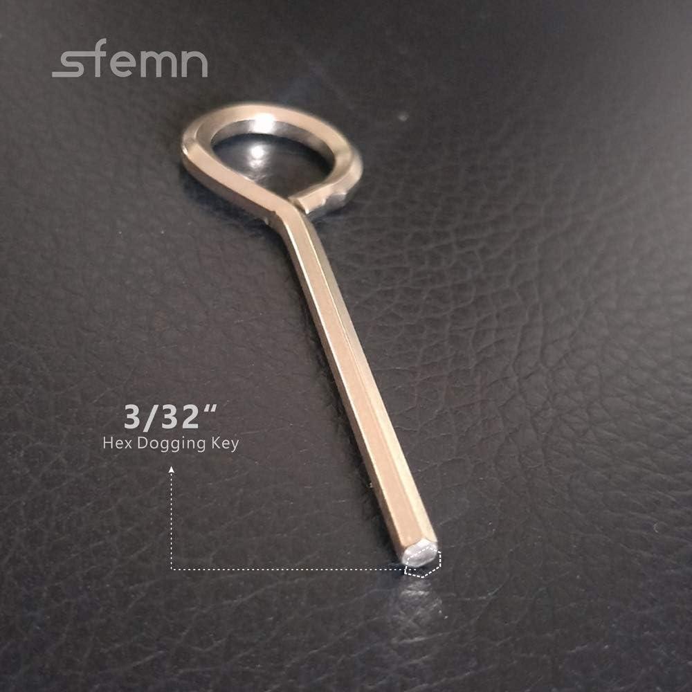 Solid Metal Gym Door Crash Bar 10 Packs Allen Wrench Door Key for Push Bar Panic Exit Devices 3//32 Hex Dogging Key with Full Loop