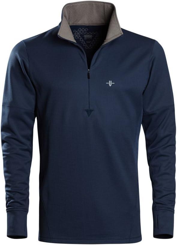 Vargo Mens Bedrock 1//4 Zip Long-Sleeve Shirt