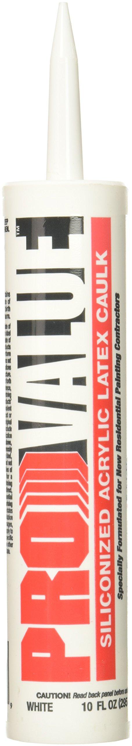 White Lightning Products 9650 Pro Value Siliconized Acrylic Latex Caulk, Bright White
