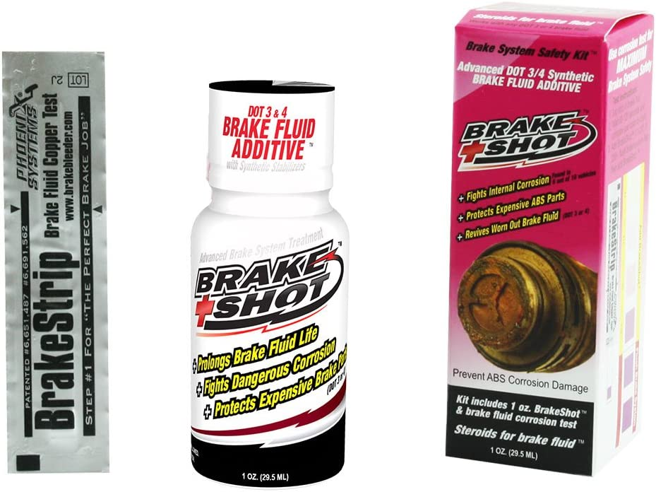 Phoenix Systems 3202-B Anti-Rust Synthetic Brake Fluid Treatment (DOT 3, 4 and 5.1 - Single Use Treats Up to 1 Liter of Brake Fluid)