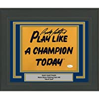 $134 » Framed Autographed/Signed Rudy Ruettiger Play Like A Champion Today Notre Dame…