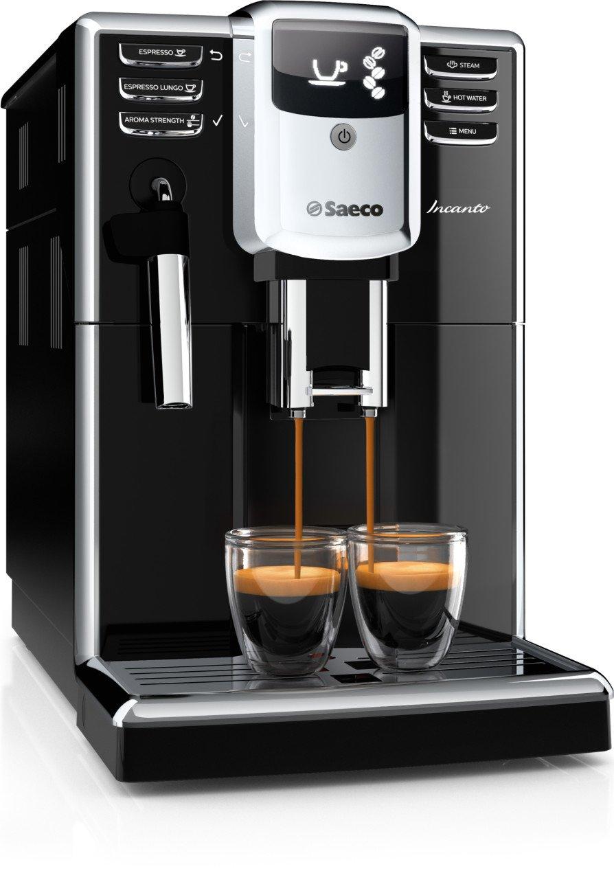 Saeco Incanto HD8911/47 - Cafetera (Independiente, Máquina espresso, 1,8 L, Molinillo integrado, 1850 W, Negro): Amazon.es: Hogar