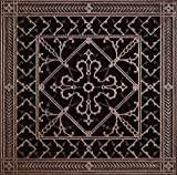 "Decorative Grille, Vent Cover, or Return Register. Made of Urethane Resin to fit over a 14''x14'' duct or opening. Total size of vent is 16""x16''x3/8'', for wall and ceiling grilles (not for floor use)."
