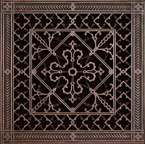 "Decorative Grille, Vent Cover, or Return Register. Made of Urethane Resin to fit over a 14'x14' duct or opening. Total size of vent is 16""x16'x3/8', for wall and ceiling grilles (not for floor use)."
