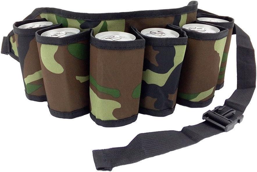 Beer Belt 6 Pack Holster Adjustable Canvas Bottle Waist Pack 6188z5c3KNL