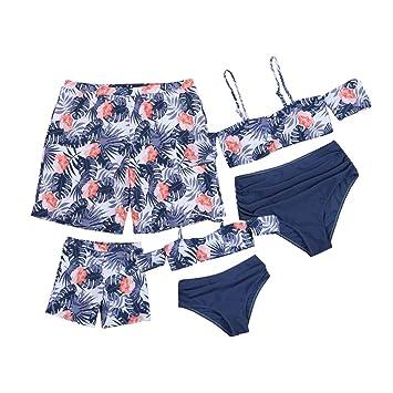 Swimsuit Print Family Matching Swimwear Bikini Set Mother Father Boys Girls Bathing Suit