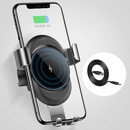 HMHD Cargador InaláMbrico Coche, Magnetico Carga Rapida Smartphone ...