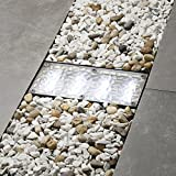 Solar Brick Landscape Path Light, 8x4 Recessed Polyresin Paver, 12 Cool White LEDs, Waterproof,...
