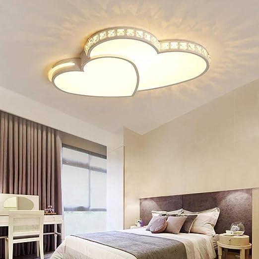 Lustre moderne à LED pour chambre à coucher Chandelier Moonlight