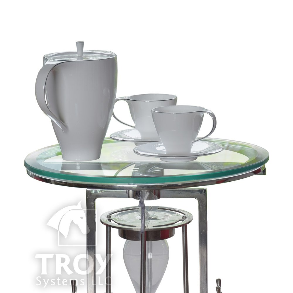 20'' Inch Round Glass Table Top, 1/2 Thick, Beveled Edge, Tempered Glass by TroySys (Image #2)