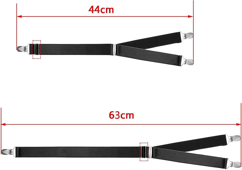 1 pair Mens Adjustable Shirt Stays Suspender Garter Belt Non-Slip Y Shirt Stays Holders HBF Shirt Stays