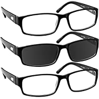 Fashion Reading Glasses - F504 - Designer Readers for Women and Men with Comfort Spring Hinges -