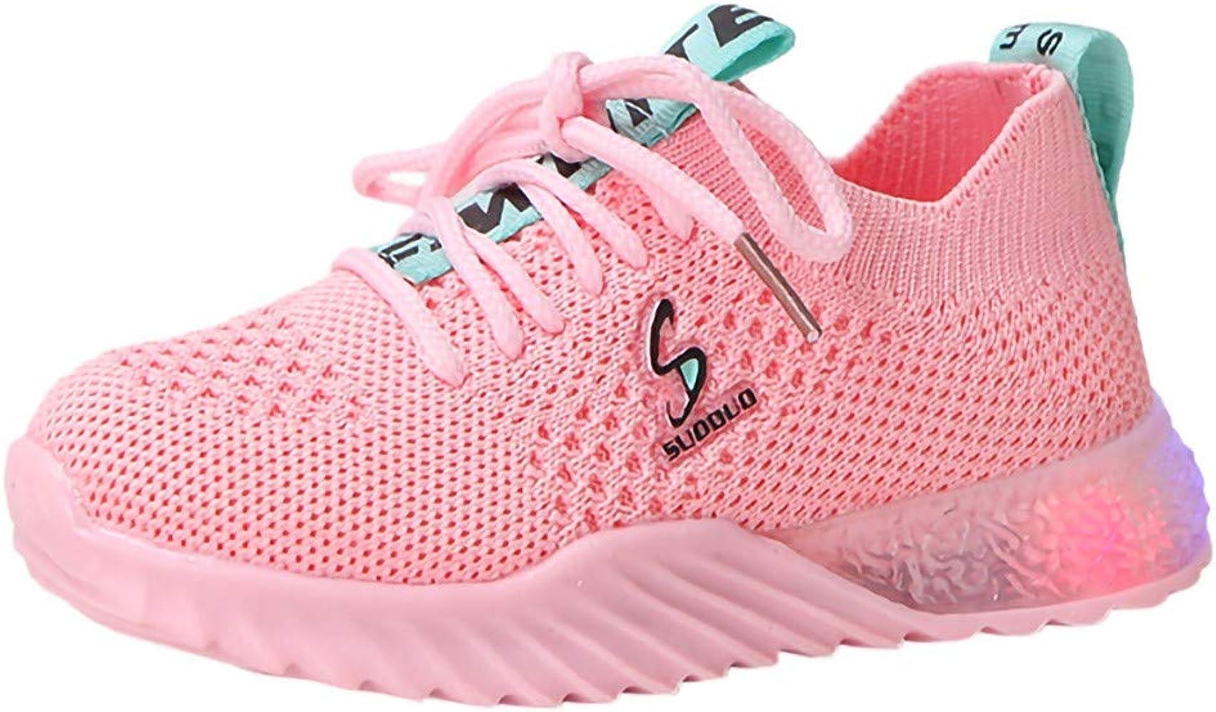 waitFOR Shoes - Zapatillas de running de Malla para niña Rosa rosa ...