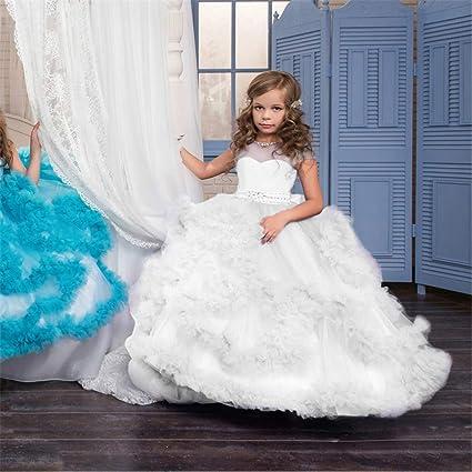 Suave Vestido de Princesa para niños Chica de Flores Vestido ...