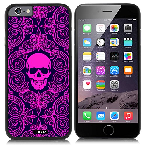 New Apple iPhone 6 s 4.7-inch CocoZ® Case Fashion personality skeleton skull PC Material Case (Black PC & Fashion skull - Indie Guy Fashion