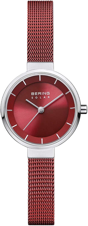 BERING Reloj Analógico para Mujer de Energía Solar con Correa en Acero Inoxidable 14627-303