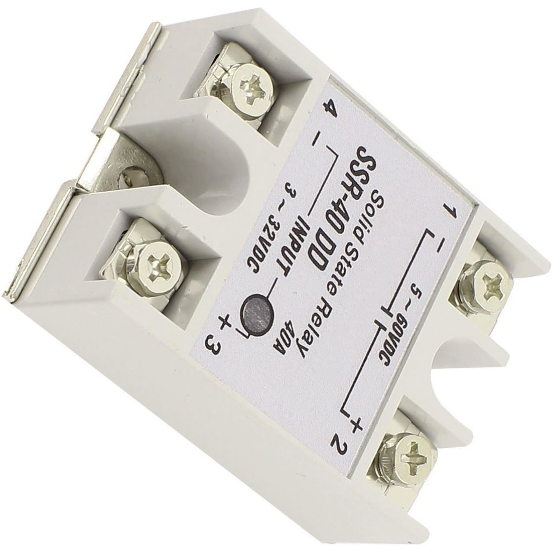 Ssr 40dd Solid State Relay Toogoorsingle Phase Reprap Dc 40a Dc3 32v Dc5 60v White Silver