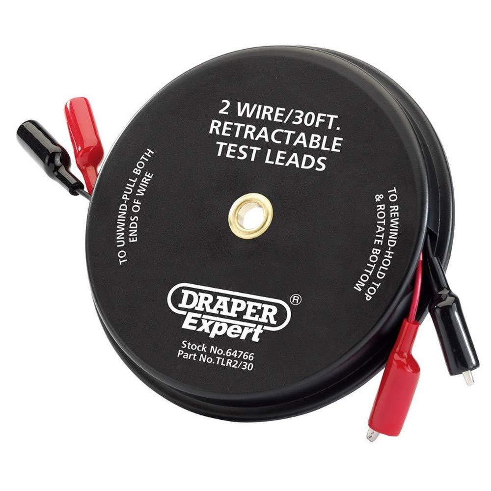 Draper 64763 3 Wire Retractable Test Lead 20 Feet