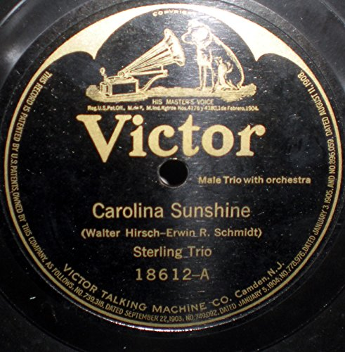 10-78-rpm-sterling-trio-charles-hart-carolina-sunshine-victor-batwing-1919