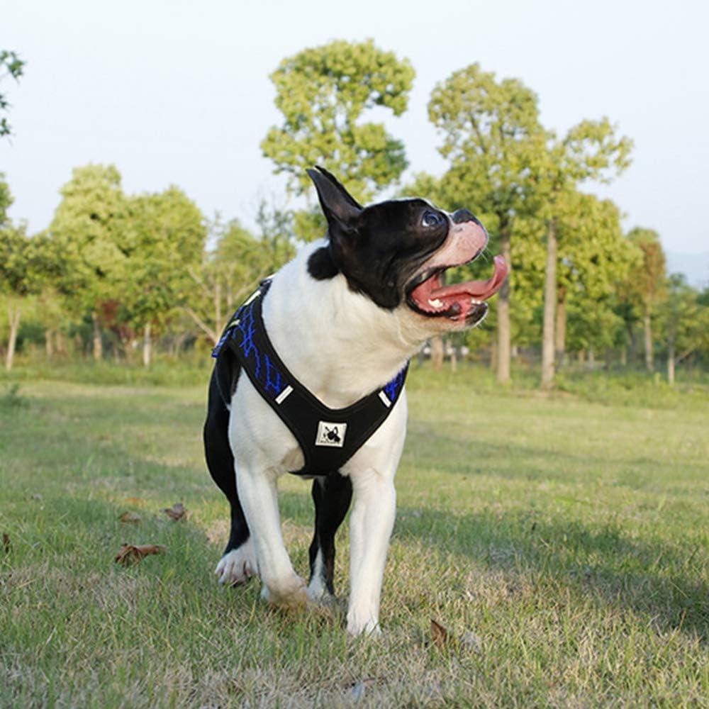 BVAGSS R/églable Respirante Harnais Anti Traction Pet Vest Harness pour Chien Gros Grande Moyen Petite Taille XH030 M, Grey