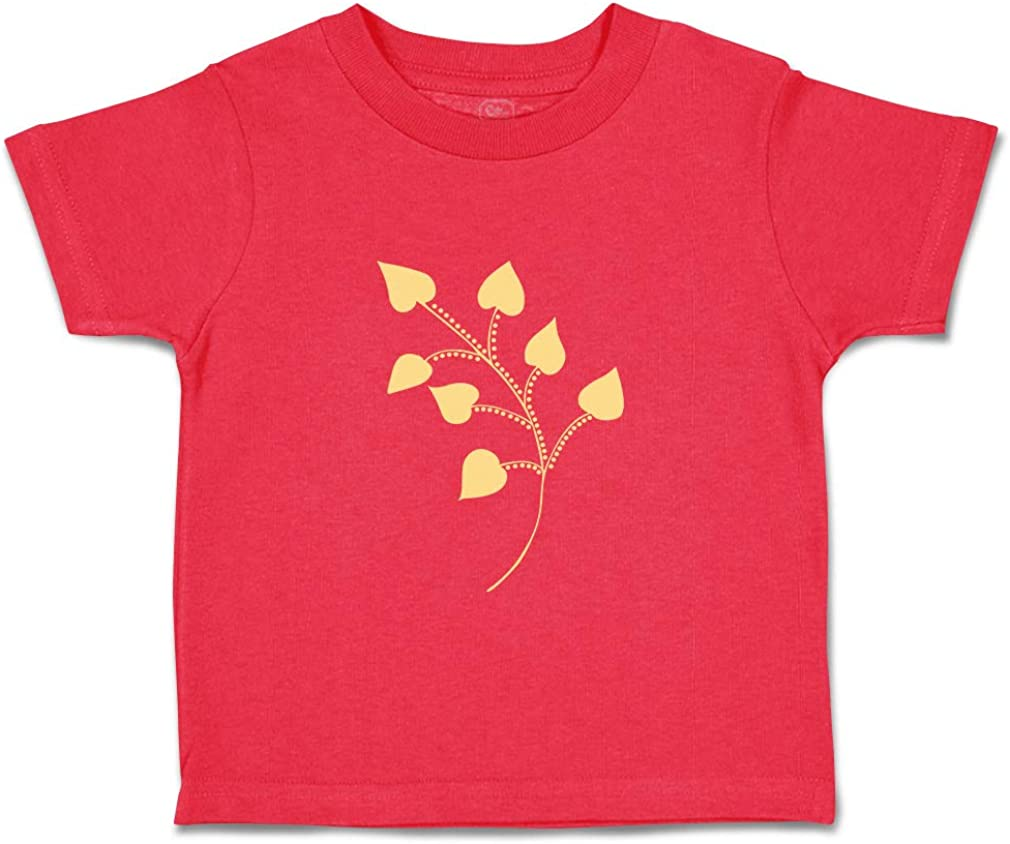 Custom Baby /& Toddler T-Shirt Leaves Light Yellow Cotton Boy Girl Clothes