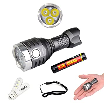 Amazon.com: MecArmy PT10 800 lúmenes 3 x CREE XP-G2 LED USB ...