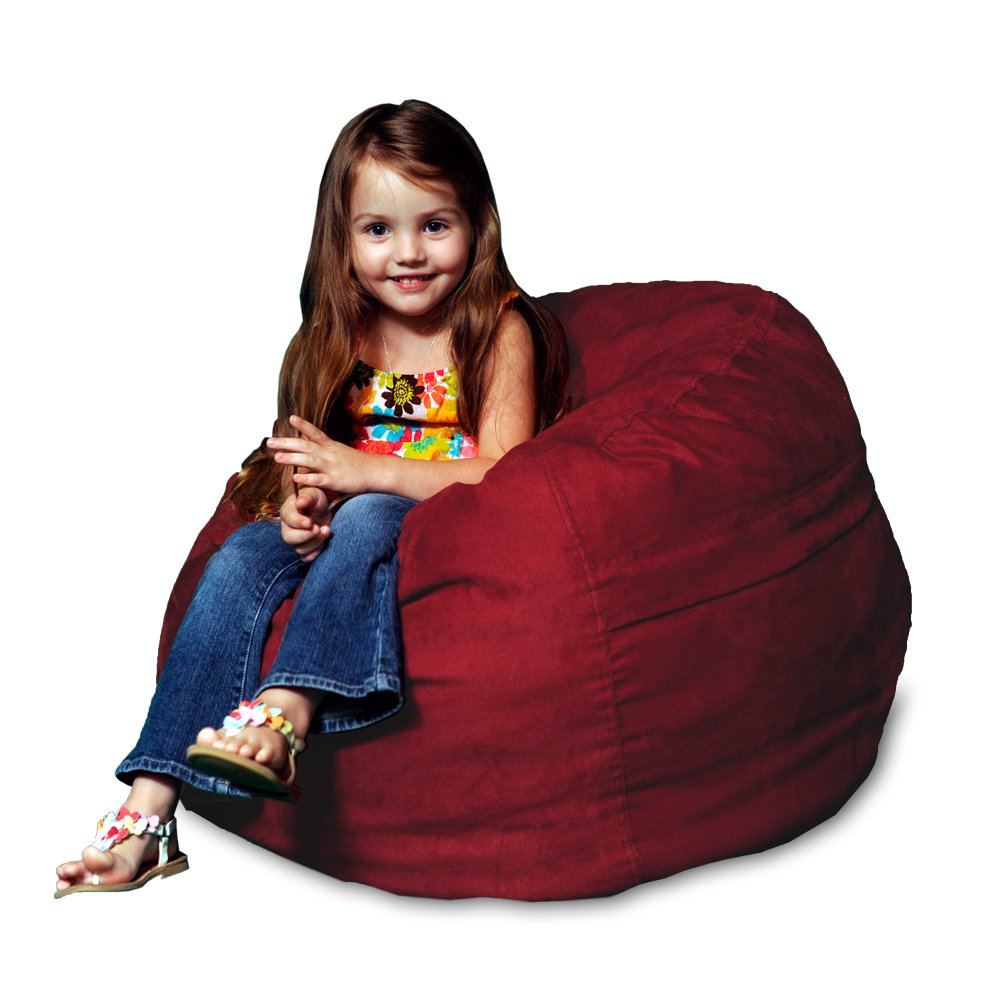Chill Sack Bean Bag Chair: Large 2' Memory Foam Furniture Bean Bag - Big Sofa with Soft Micro Fiber Cover - Cinnabar