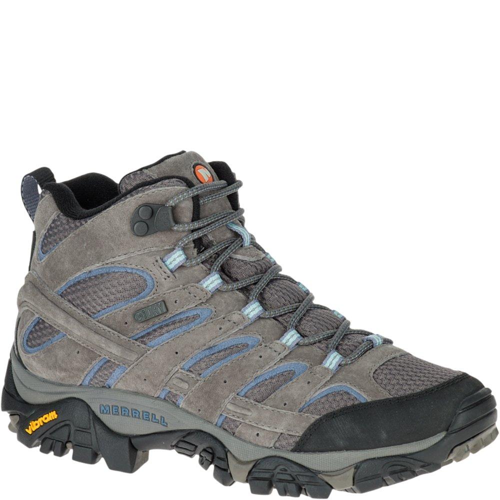 Merrell Women's Moab 2 Mid Waterproof Hiking Boot, Granite, 11 M US