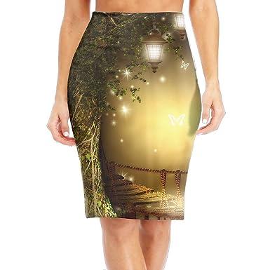 e786e0cf67 Women's Long Pencil Skirt Beautiful Printed Knee Length Skirts Dress ...