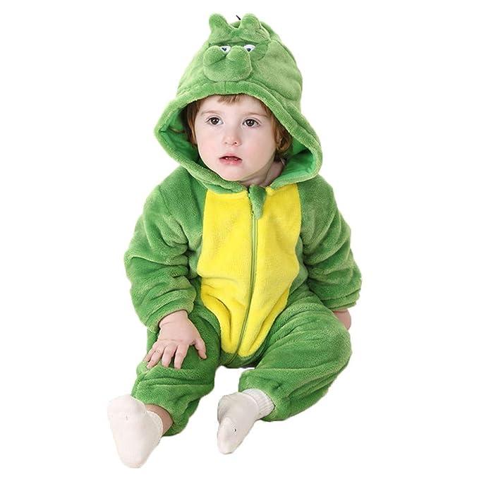 Bebé Ropa Disfraces Franela Traje Animales Pelele Unisexo Disfraz Invierno Kigurumi: Amazon.es: Ropa y accesorios