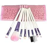 Sodial Pro Lot de 8 pinceaux de maquillage avec mallette Rose
