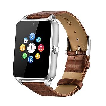 Fantime Smartwatch Relojes Inteligentes Bluetooth Smartwatches Soporta Llamada Mensaje Tarjeta SIM/TF Pantalla Táctil /Facebook/Twitter/Podómetro/ Internet ...