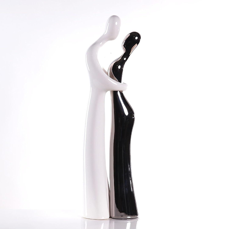 Scultura decorazione - LOVERS ROMANCE, Deco Figurine 49 centimetri bianco-argento XTRADEFACTORY GMBH