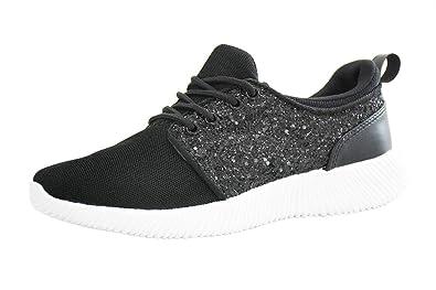 85a7e14961cc ROXY-ROSE Women Glitter Flyknit Knit Tennis Sneakers   Breathable  Lightweight Kicks Bomb Red White