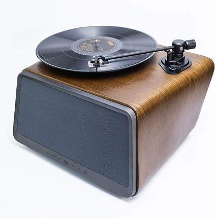 XiaoZou Giradiscos portátil Música Disco Reproductor de Discos LP ...