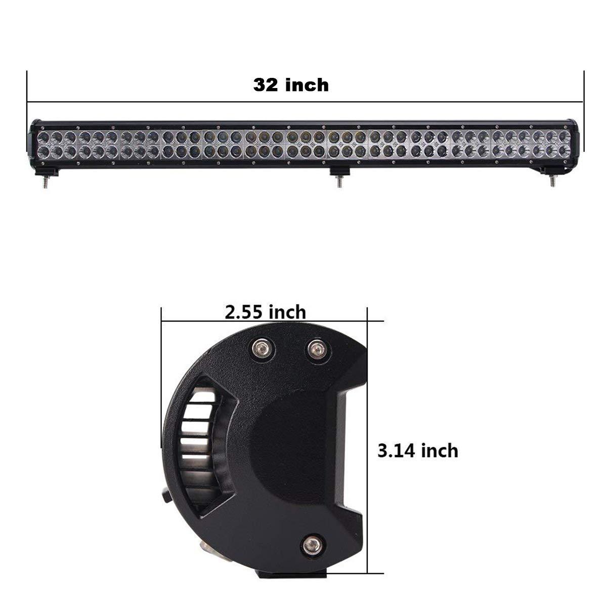 Willpower 44 pouces a men/é le combo imperm/éable de barre lumineuse 288W imperm/éable /à leau de tache combin/ée offroad conduisant des lumi/ères de travail de brouillard pour lATV bateau camion 4WD