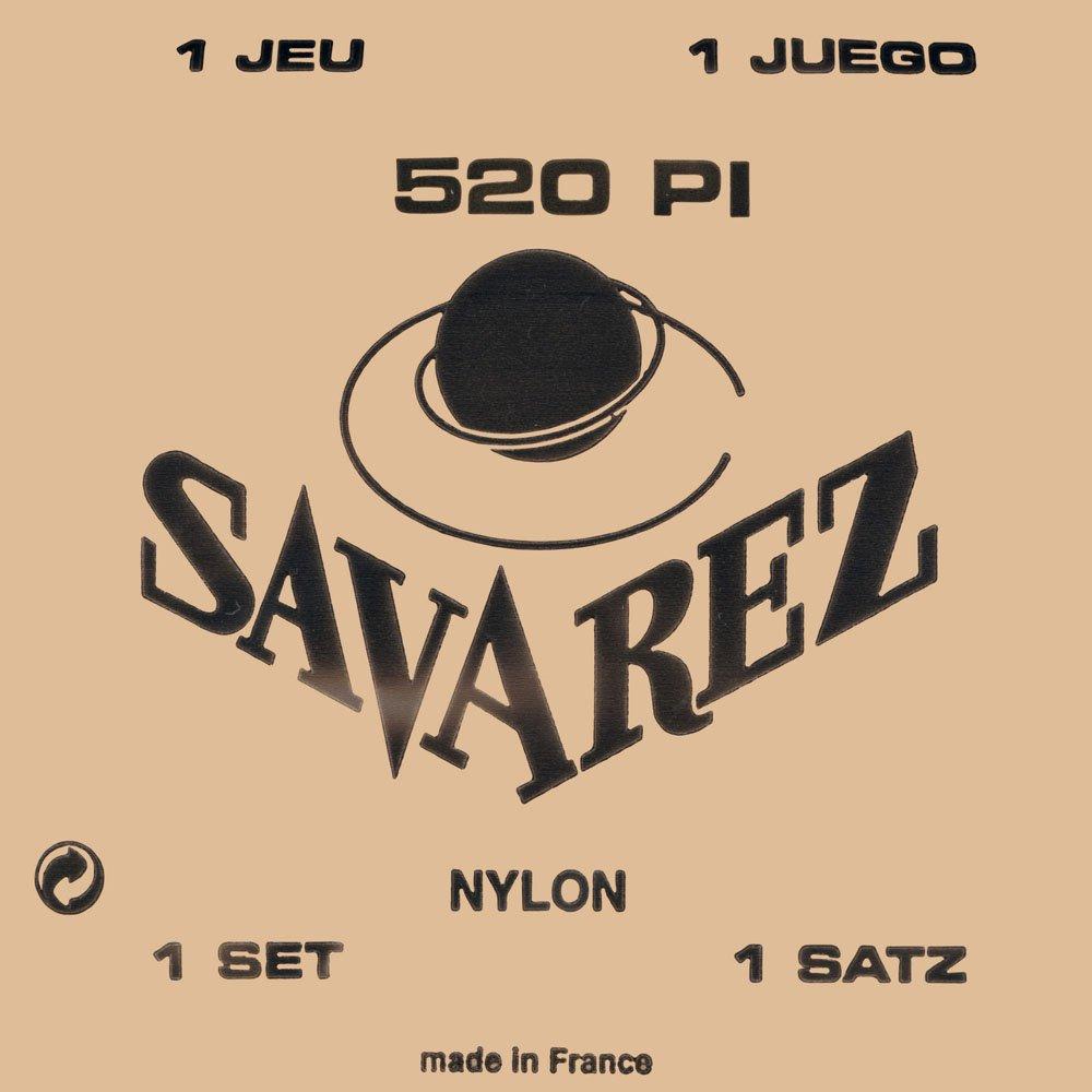 Savarez 520P1 Traditional Classical Guitar Strings, High Tension, Red Card KMC Music Inc