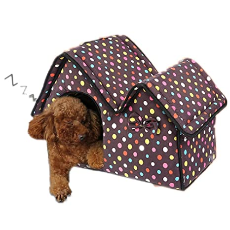 Lujo Alta calidad perro de mascota casa tienda Eva material lndoor caseta para perros pequeños,