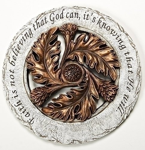Faith is Knowing God Will Bronze Leaf 12 inch Resin Stone Decorative Stepping Stone Review