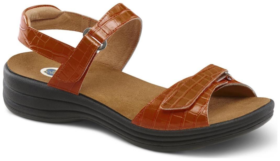 Dr. Comfort Women's Rachel Peanut Brittle Sandals